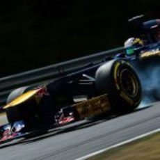 Pasada de frenada de Jean-Eric Vergne en Hungaroring