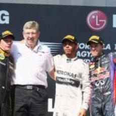 Podio del GP de Hungría 2013