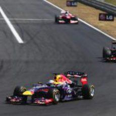 Sebastian Vettel superó los problemas en Hungría
