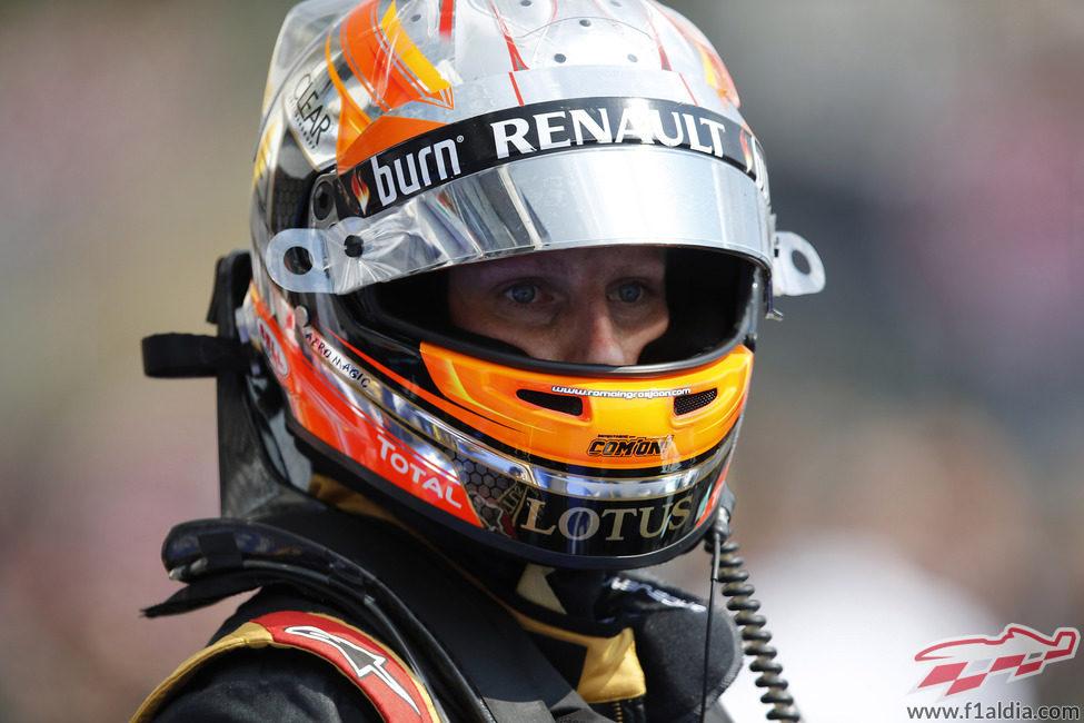 Romain Grosjean tuvo mucho ritmo en Hungría