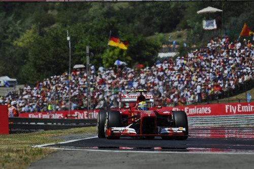 Felipe Massa sufrió con el tráfico