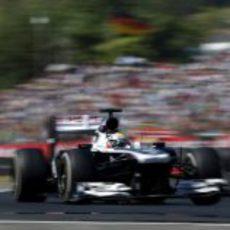Pastor Maldonado vuela en Hungaroring