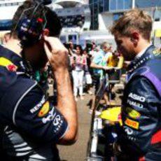 Sebastian Vettel, momentos antes de la carrera