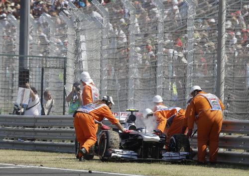 Se acabó la carrera de Valtteri Bottas