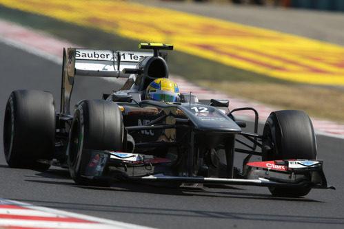 Esteban Gutierrez compite en Hungaroring