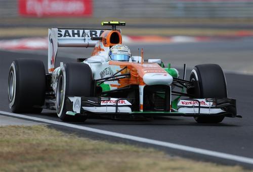 Adrian Sutil estuvo desafortunado en Hungría