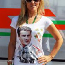 Jennifer Becks, novia de Adrian Sutil, en Hungría