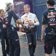 David Coulthard llega a la exhibición