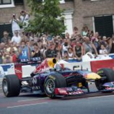 David Coulthard, en Assen, con el Red Bull RB7