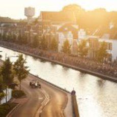 Atardecer y Fórmula 1 en Holanda