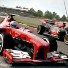 Fernando Alonso y Kimi Räikkönen en el 'F1 2013'