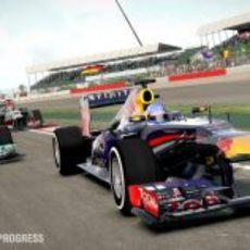 Sebastian Vettel rueda en el 'F1 2013'