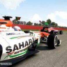 Paul di Resta con el VJM05 en el 'F1 2013'