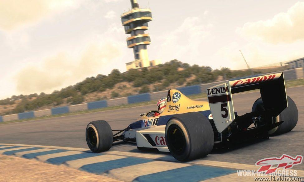 Nigel Mansell en el 'F1 2013'