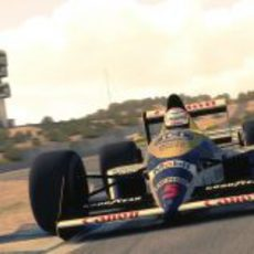 Nigel Mansell con el Williams FW12 en Jerez
