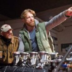 Ron Howard y Anthony Dod Mantle durante el rodaje