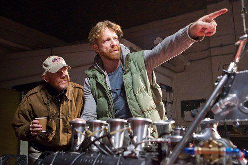 Ron Howard y Anthony Dod Mantle durante el rodaje
