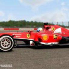 Fernando Alonso y su F138 en 'F1 2013'