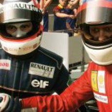 Nigel Mansell y Michael Schumacher en el 'F1 2013'