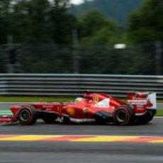 Fernando Alonso, con el compuesto duro