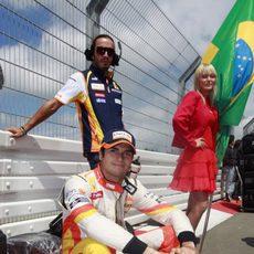 Piquet descansa antes de la carrera