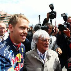 Vettel y Ecclestone