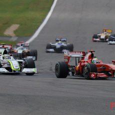 Massa y Button