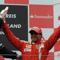 Massa en el podio
