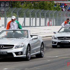 Los dos pilotos de Force India