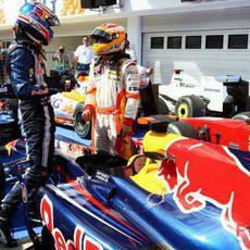 Webber y Alonso