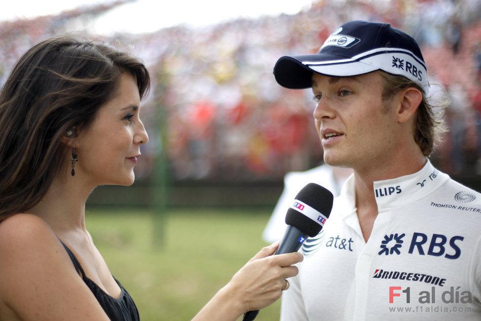 Rosberg en una entrevista