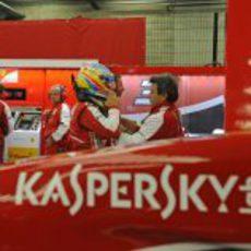 El box de Ferrari