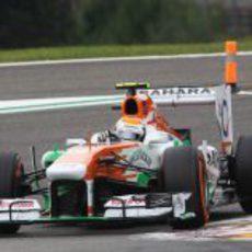 Adrian Sutil cayó en Q2 en Spa