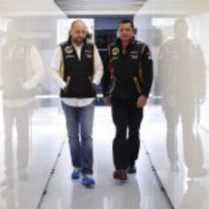 Gerard López y Eric Boullier en Spa