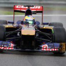 Spray en el Toro Rosso de Jean-Eric Vergne
