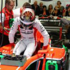 Jules Bianchi se sube al MR02