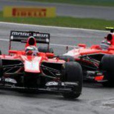 Max Chilton y Jules Bianchi pasaron a la Q2 en Bélgica