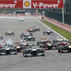 Salida del Gran Premio de Bélgica 2013