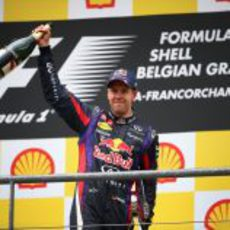 Sebastian Vettel, ganador en Bélgica