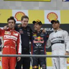 Podio del Gran Premio de Bélgica 2013