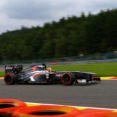 Nico Hülkenberg a toda velocidad en el GP de Bélgica 2013