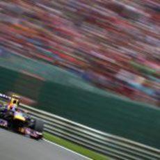 Mark Webber terminó quinto en Spa