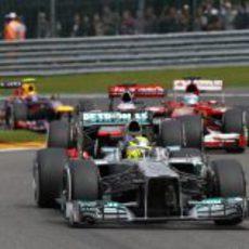 Nico Rosberg, poco después de la salida