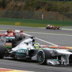 Nico Rosberg pudo mantener la cuarta plaza