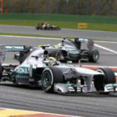 Lewis Hamilton se subió al podio en Spa