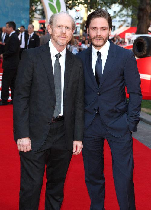 Ron Howard y Daniel Brühl en el estreno de 'Rush'