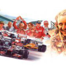 Dibujo para recordar los 50 años de McLaren
