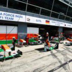 Exposición de alerones de Force India