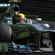 Primer plano del Mercedes de Lewis Hamilton