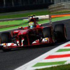 Felipe Massa tuvo un problema de marchas en Monza